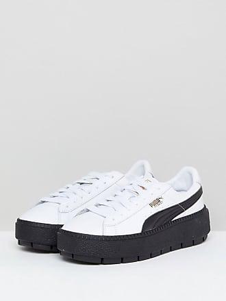 Puma - Trace - Baskets compensées avec semelle en caoutchouc - Noir - Blanc