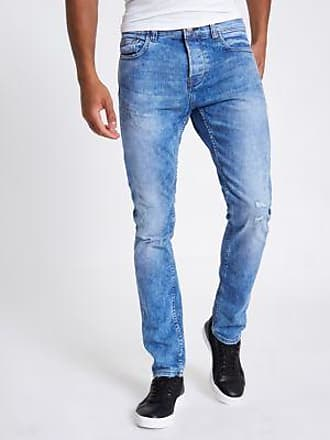 River Island Only & Sons - Jean large effet usé