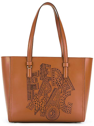Tote Bag On Sale, Ecorce, Leather, 2017, one size Salvatore Ferragamo