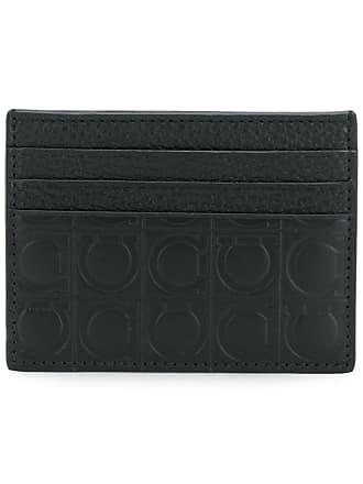 Salvatore ferragamo business card holders sale up to 60 salvatore ferragamo embossed gancio cardholder black colourmoves