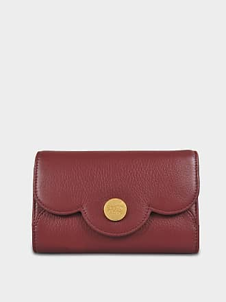 See by Chloé Wallet on Chain Polina en Cuir de Veau Rouge Sienne