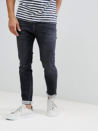 Kurz Geschnittene Slim Fit Jeans Dames Zwart Selected