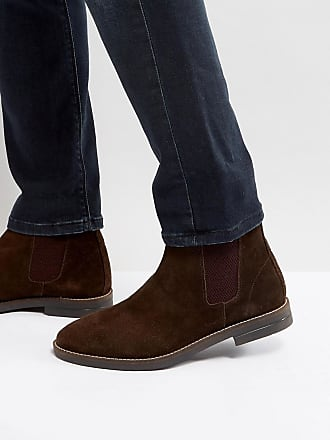 Apron Boots in Leather - Brown Silver Street London