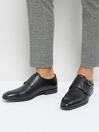 Boucle Chaussures Moine Sur Semelle Blanche - Verni Noir Rebelle Londres