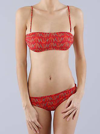 Siyu Maillot de bain 2 pièces Mosaico Bandeau rouge