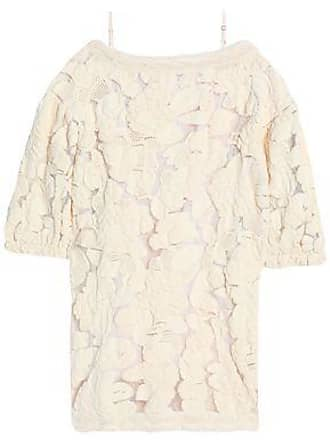 Sonia Rykiel Woman Cold-shoulder Knitted Cotton-blend Dress Ivory Size M Sonia Rykiel