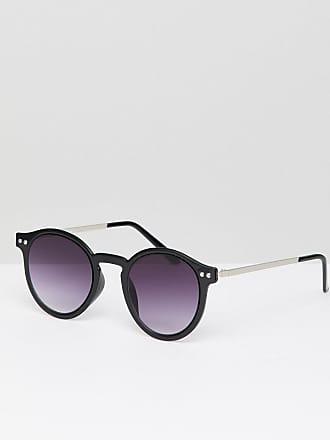 Monokel Eyewear - Nelson - Lunettes de soleil rondes - Noir/cristal - Noir