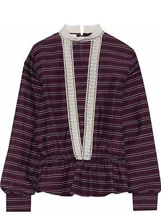 Stella Jean Woman Striped Cotton-blend Shirt Lavender Size 42 Stella Jean