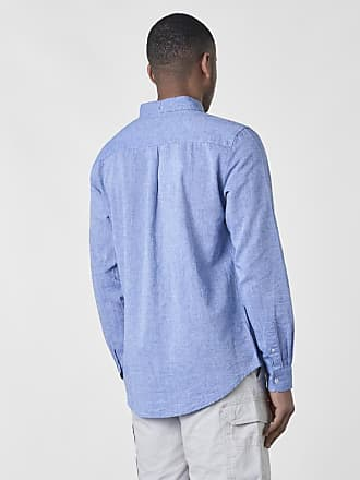 interesting studio total linus linen chambray shirt blue with vit kostym  herr f88c8aaf16f78
