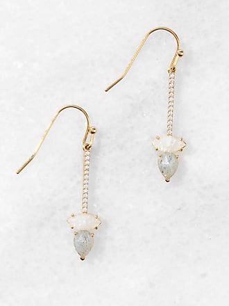 Tai Jewelry Bar Stud With Cherry Jade Stone Pink