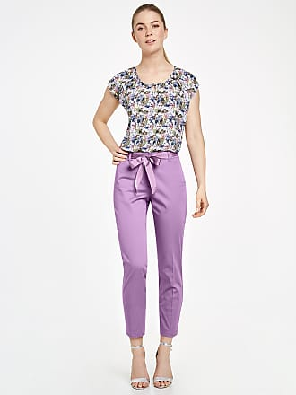 7/8-length stretch cotton trousers, Slim Peg Leg green female Taifun