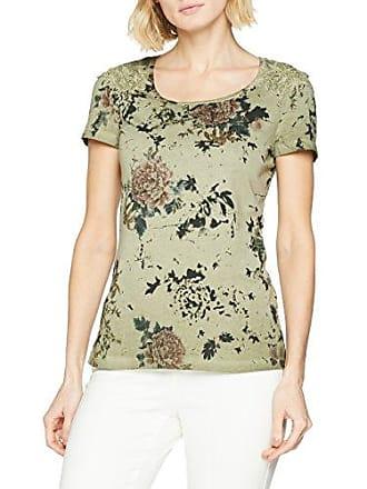 Taifun T-Shirt 1/2 Arm, Camiseta para Mujer, Multicolor (Off-White Druck 9007), 38