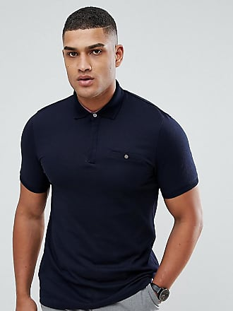 Ted Baker TALL - Polo texturé - Navy