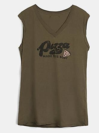 Esca, Camiseta sin Mangas para Mujer, Verde (Kahki 6420), 38 (Tamaño del Fabricante:6420-S/M) The Hip Tee