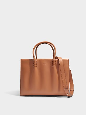 Tod's Grand Sac Shopping Lady Moc en Cuir de Veau Orange