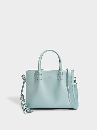 Tod's Grand Sac Shopping Lady Moc en Cuir de Veau Gris