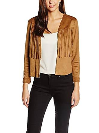 9394293c293e Tom Tailor Denim Fake Leather Fringe Jacket 510 - Chaqueta Mujer, Brown -  Braun