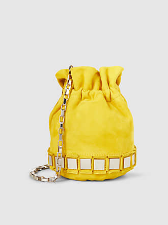Pise Embellished Suede Bucket Bag Tomasini