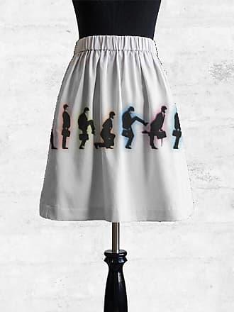 Cupro Skirt - Blue and White by VIDA VIDA