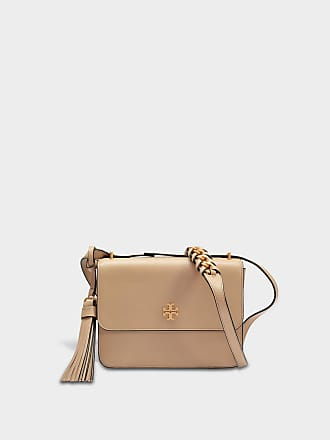 Tory Burch Besace Brooke en Cuir Marron