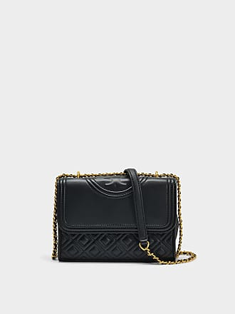 Tory Burch Sac Fleming Convertible en Cuir de Veau Embossé Serpent