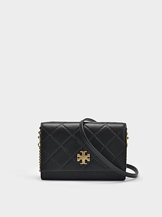 Tory Burch Sac Georgia Turnlock Mini en Cuir Noir