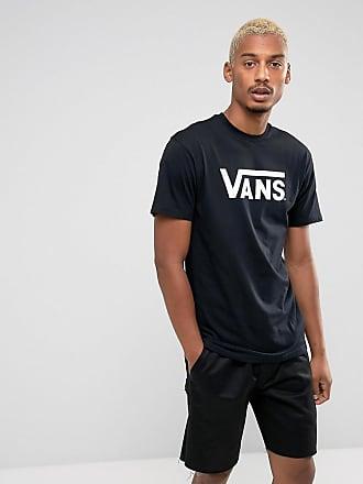 Schwarzes T-Shirt mit dreieckigem Print hinten - Schwarz Vans