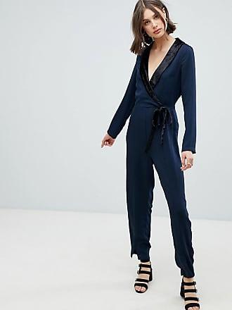 Geblümter Jumpsuit Dames Blauw Vero Moda