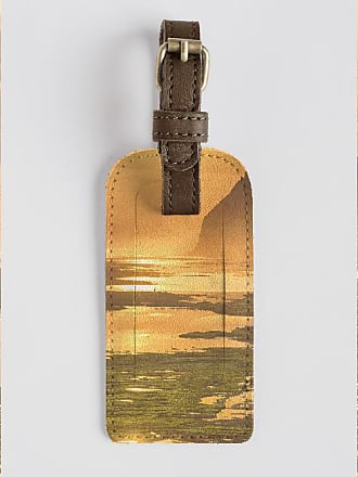 Leather Accent Tag - bali sunset by VIDA VIDA