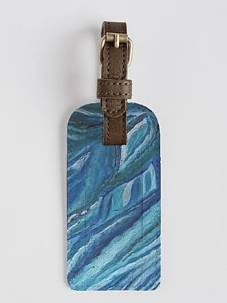 VIDA Leather Accent Tag - Abstract Blue by VIDA