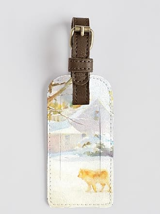 Leather Accent Tag - silver by VIDA VIDA