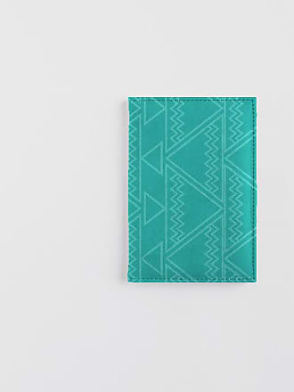 Leather Passport Case - geometric squares by VIDA VIDA