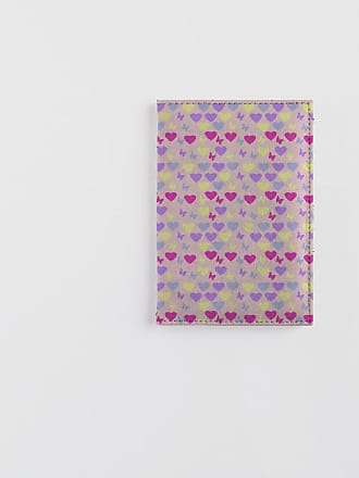 Leather Passport Case - PINK AND WHITE ROSES by VIDA VIDA