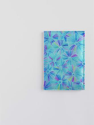 Leather Passport Case - African Blue Cranes FFC04 by VIDA VIDA