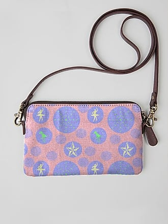Statement Clutch - blue retro dots by VIDA VIDA