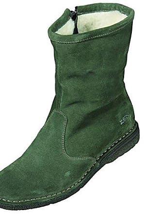 TAOFFEN Damen Mode Ankle Boots Kurzschaft Stiefel mit Keilabsatz Green Size 33 Asian