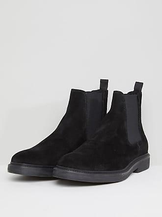 Bottines Chelsea compensées en cuir - NoirZign Shoes