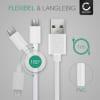 USB Kabel für Garmin Edge 520 Plus, 820, 1000, 1030 / Dashcam 55 / Zumo 595 / Approach / Dezl 760 - Ladekabel 1m 2A PVC Datenkabel weiß
