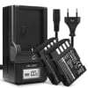 2x Kamera Akku DMW-BLF19E + Ladegerät DMW-BTC10 für Panasonic GH5 Lumix DC-GH5 DC-GH5s Lumix DMC-GH4 GH4 GH4r GH4h GH3 DMC-GH3h GH3a G9 DC-G9 - 1600mAh Ersatzakku, Ladekabel, Akkuladegerät
