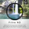 Filtre Densité Neutre ND2000 pour Ø 67mm Filtre Gris Neutre