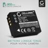 2x Batterie pour appareil photo Panasonic Lumix DMC-TZ5 DMC-TZ5 DMC-TZ3 DMC-TZ1 DMC-TZ4 DMC-TZ2 - CGA-S007 CGR-S007 DMW-BCD10 900mAh Batterie Remplacement