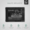 Batterie pour Canon LEGRIA HF G10 G25 HF20 HF21 HF200 HG20 HG21 HF M31 - BP-807,-808,-809,-819,-827 (1780mAh) Batterie de remplacement