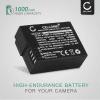 Kamera Batteri til Panasonic Lumix DMC-FZ1000 DMC-FZ200 DMC-FZ2000 DMC-FZ300 DMC-G5 DMC-G6 DMC-G7 DMC-G70 DMC-G81 DMC-GH2 DMC-GX8 - DMW-BLC12 DMW-BLC12E 1000mAh Udskiftsningsbatteri til kamera