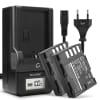 2x Kamera Akku DMW-BLF19 DMW-BLF19e DMW-BLF19pp + Ladegerät DMW-BTC10 für Panasonic GH5 Lumix DC-GH5s DMC-GH4 GH4 GH4r GH4h GH3 GH3h GH3a G9 DC-G9 - 2000mAh Ersatzakku, Ladekabel, Akkuladegerät