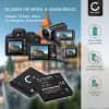 2x Kamera Akku für Panasonic Lumix DMC-FT30 -FT25 DMC-SZ1 -SZ7 DMC-S1 -S2 -S3 DMS-FS16 -FS28 -FS35 -FS40 DMC-TS25 DMC-FH4 -FH2 -FH25 - DMW-BCK7 NCA-YN101H Ersatzakku 700mAh , Batterie
