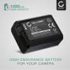 Batterie pour appareil photo Sony Alpha 6000 A6000 A6300 A6400 A6500 A5000 A5100 Alpha 7 II A7 II A7s A7R ILCE-7R RX10 III NEX-5 NEX-6 DSC-RX10 SLT-A37 A37 A35 A33 - NP-FW50 1050mAh Batterie Remplacement