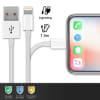Câble USB Lightning 8 Pin 1m pour tablette iPad mini 1 2 3 4 / iPad 5 6 / iPad Air 1 2 / iPad Pro 9.7 / iPad Pro 10.5 / iPad Pro 12.9 - Transfert de données et charge blanc