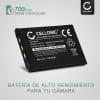 Bateria para camaras BenQ DC T700 T800 T850 X720 X725 X735 X800 X835 - DLi-203 700mAh Batería de repuesto