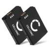 2x Batterie pour Parrot Zik 2.0, Zik 3.0 - 1ICP7/28/35,4H000791,51104184,5L176248,MCELE00254,MH46671,PF56100 750mAh