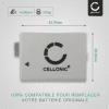 2x Batterie pour appareil photo Canon EOS 1000D EOS 500D EOS 450D EOS Rebel XS - LP-E5 1020mAh LP-E5 Batterie Remplacement